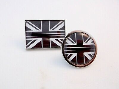 THIN BLACK LINE UNION JACK UK GB PRISON OFFICER SERVICE MERIT LAPEL PIN BADGE