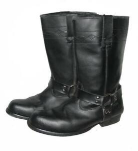 034-HIGHWAY-1-034-Herren-Stiefel-Lederstiefel-Biker-Boots-schwarz-ca-Gr-45