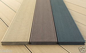 solid wpc wood plastic composite decking boards 150 x 25mm