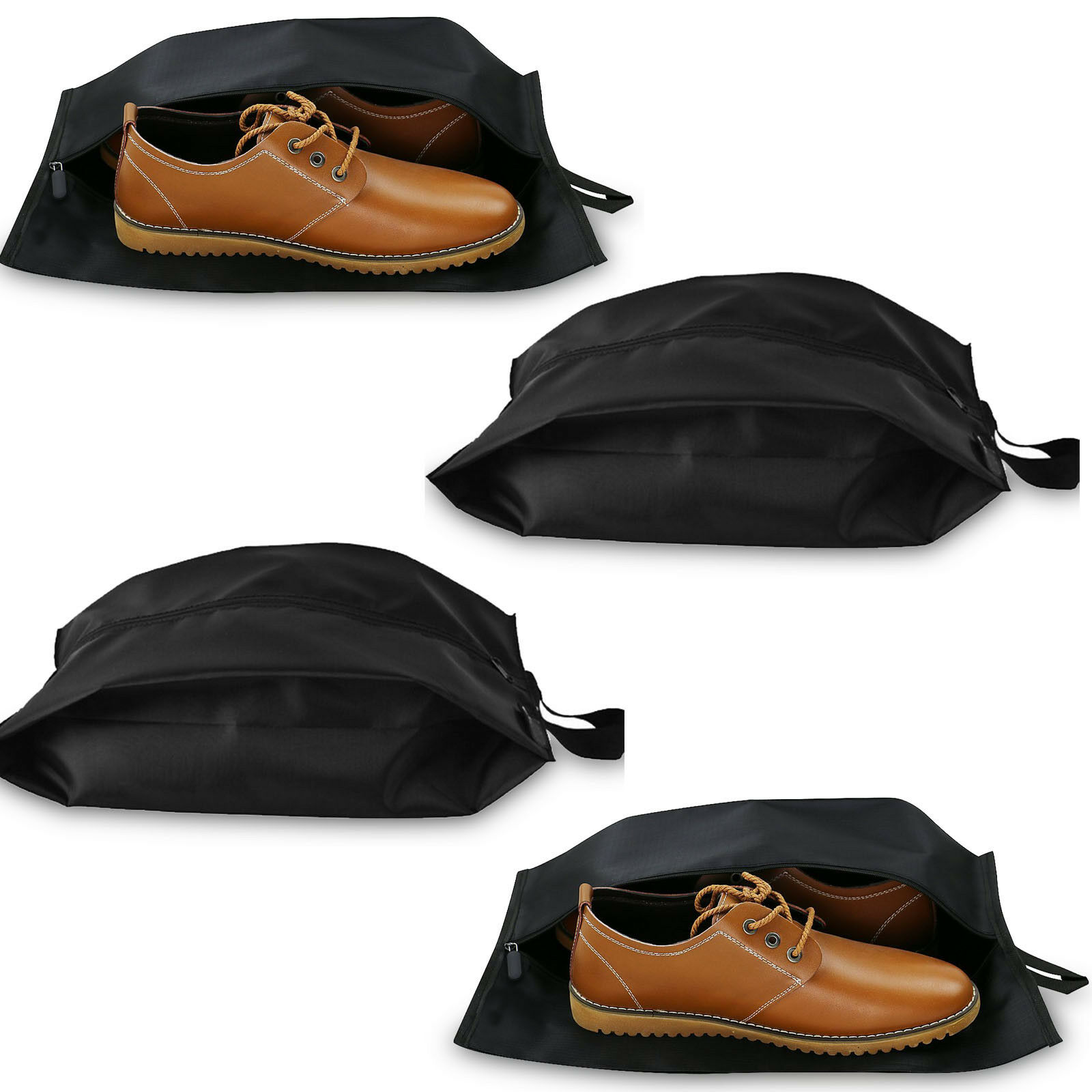 BLK Portable Travel shoes Bags Storage Case with Zipper Closure 13.77.55.5inch