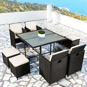 Polyrattan Gartenmöbel Cube Essgruppe Sitzgruppe Rattan Gartenset