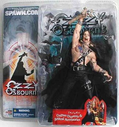 McFarlane Toys Ozzy Osbourne /& Bark at the Moon Action Figure Set of 2  2004  f9