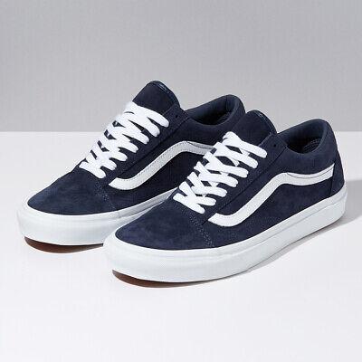 Vans Pig Suede Old Skool Skate Sneakers Low Top Navy VN0A4BV5TPS Size US 4 13   eBay