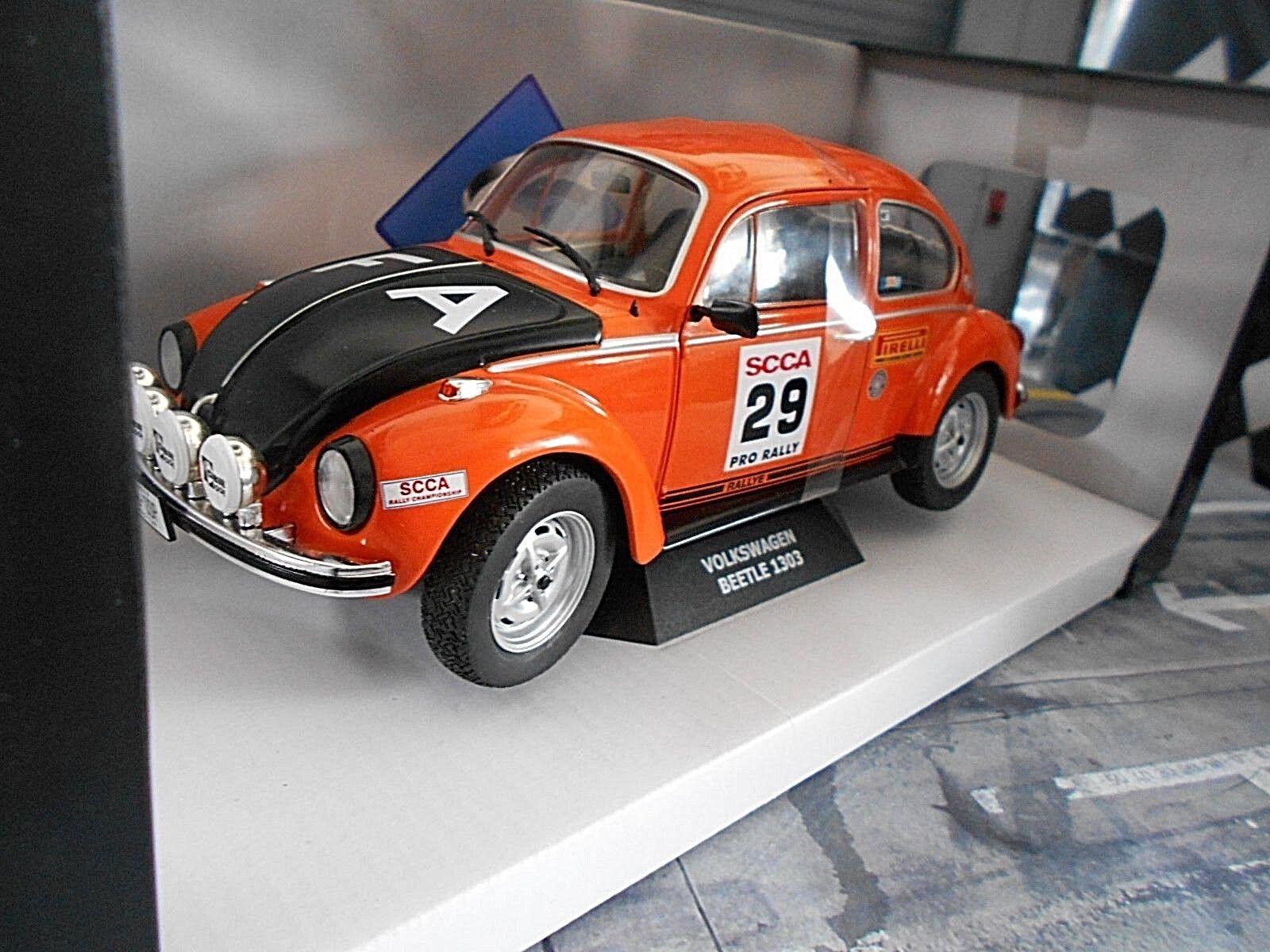 VW Volkswagen Beetle Beetle 1303 S Rally SCCA Pro orange Solido 1 18