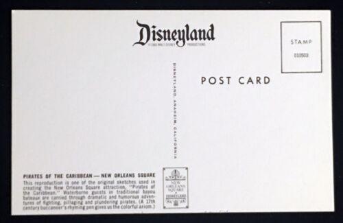 Disneyland PIRATES OF THE CARIBBEAN POSTCARD SET concept art MARC DAVIS ART