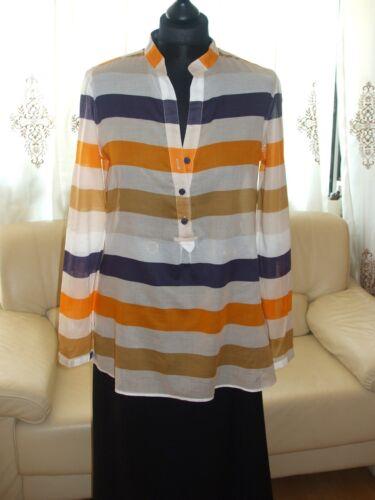 Orange Gestreift Dunkelblau Bluse Cotton Schicke 38 Wei Lloyd Neuw Gr FX7qtx