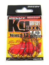 Decoy Worm 17KG High Power Offset Worm Hooks Size 4 (8085)