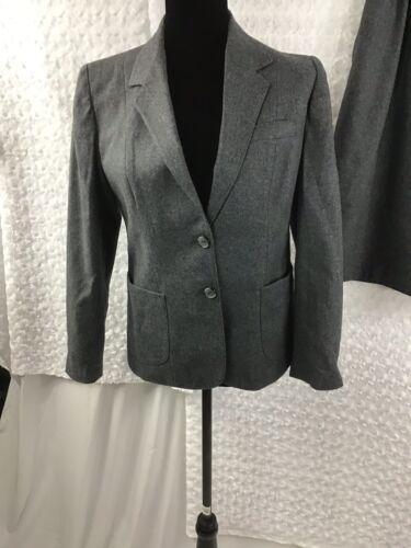 Gonna Blazer Tag Button 9 predato No 10 100 Suit Grigio Taglia Set Womens Nwot lana ZC0dwY