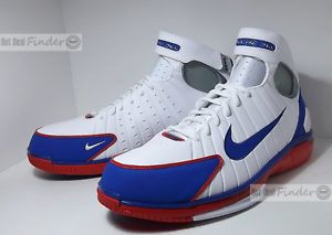 NEW NIKE AIR ZOOM HUARACHE 2K4 = SIZE 12 = MEN'S BASKETBALL SHOES 308475-100 Wild casual shoes
