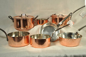 copper pots and pans baumalu assorted copper cookware pots and pans alsace 12444