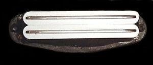 Guitar Parts - GUITARHEADS PICKUPS MINI RAIL HUMBUCKER - WHITE & CHROME - Neck