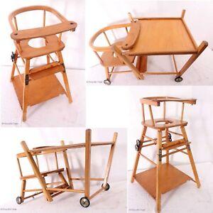 Antiker Klappstuhl.Details Zu Wunderschöner Antiker Kinder Hochstuhl Klappstuhl Umwandelbar Spieltisch Lauftis