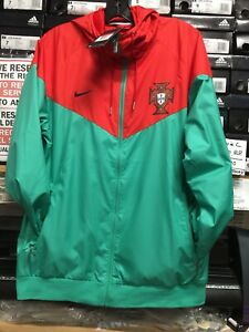 fd6630f9e479 Image is loading Nike-Portugal-Windbreaker-2019-Green-Red-Size-Large-