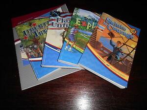 Abeka 4th grade Readers, Set of 7 and Key