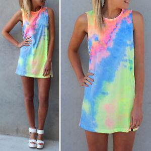 Women-Tie-Dye-Summer-Beach-Dress-Casual-Bikini-Cover-Up-Sleeveless-Mini-Sundress