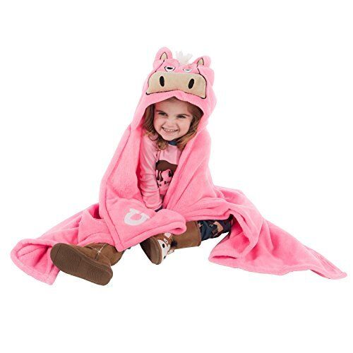 LazyOne Hooded Critter Fleece Blanket Pink Horse - Pink Horse