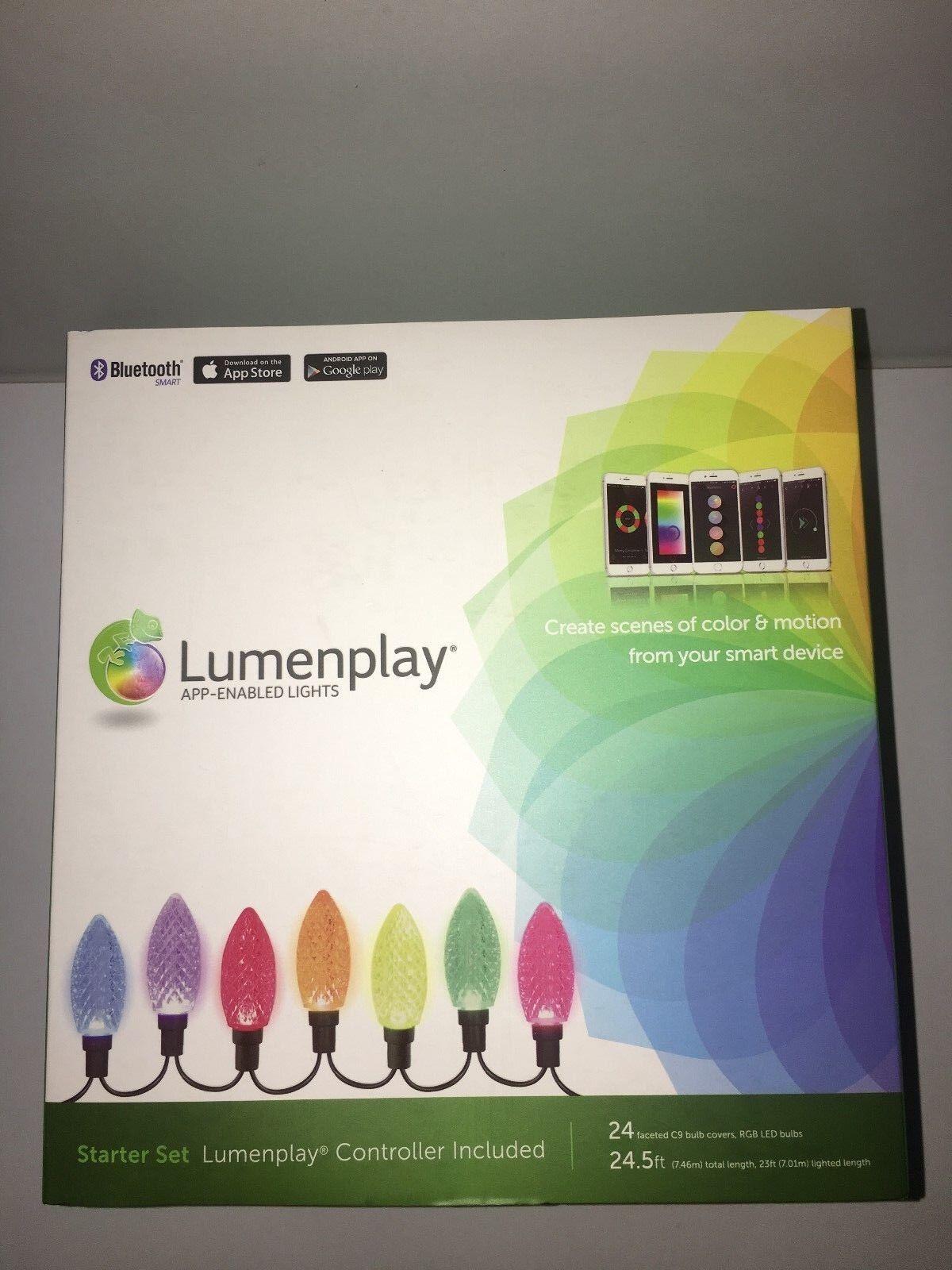 NEW LUMENPLAY APP ENABLED C9 LED HOLIDAY CHRISTMAS LIGHTS STARTER SET blueETOOTH