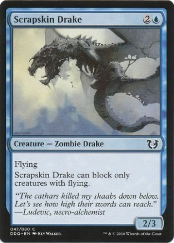 MTG x4 Scrapskin Drake Duel Decks Cursed Common Blue NM//M Blessed Vs