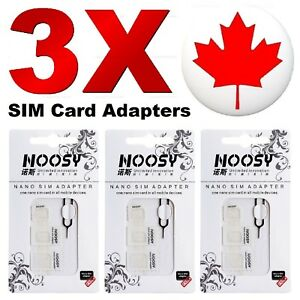 3 Pack - SIM Card Adapter Nano to Micro Standard Converter For iPhone Samsung LG