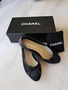 CHANEL-classic-mesh-CC-ballerina-flats-in-36