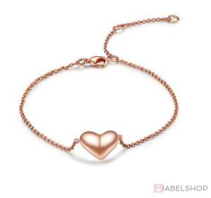 Damen-Armband-Armbaender-Herz-Anhaenger-Liebe-Geschenk-Rosegold-Edelstahl-Filigran