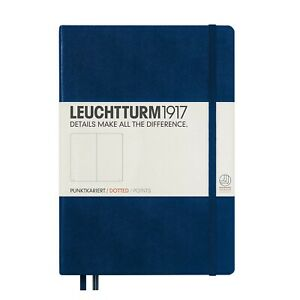 249 Numbered Pages Nordic Blue Leuchtturm1917 Medium A5 Plain Hardcover Notebook