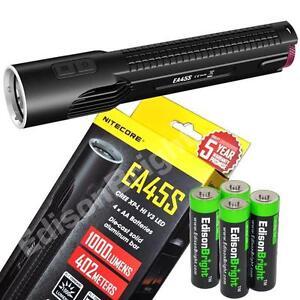 New-Nitecore-EA45S-1000-lumen-CREE-LED-AA-flashlight-with-batteries-EA4-EA41