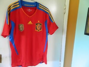 innovative design 96179 7946d Details about SPAIN NATIONAL TEAM jersey soccer FOOTBALL ADIDAS mens Lg  'WORLD CUP Champions'