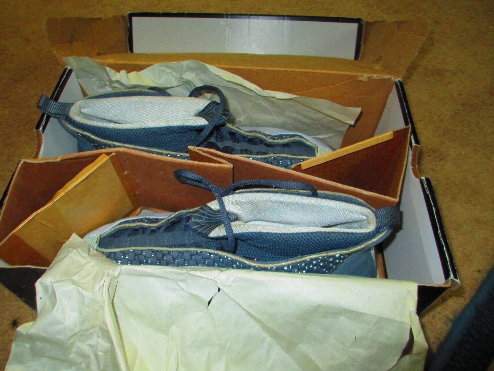AIR JORDAN 15 / FLINT GREY-WHITE /ORIGINAL CON./CLEAN CONDITD 2000/ BOX INCLUDED Cheap and beautiful fashion