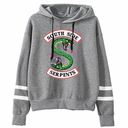 Heiß Neu Riverdale Southside Serpents KapuzenPullover Drucken Sweatshirt Hoodie
