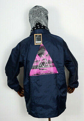 Clothing, Shoes & Accessories Huf Worldwide Windbreaker Jacket Coach Coaches Dimensions Navy In S Diversified In Packaging Coats & Jackets