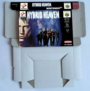 Hybrid Heaven - repro box with insert - N64 - Pal REGION. Top Quality !!
