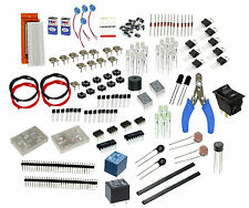 Bread Board kit with Resistor,caps,Diode,LED,Transistor,Buzer,Battery,7-segment