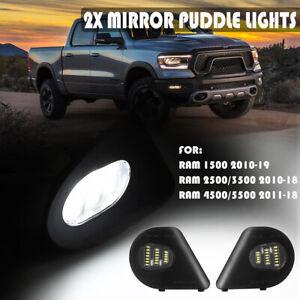 2X 18LED Side Mirror Puddle Light For Dodge Ram 1500 2500 3500 4500 5500 2010-19
