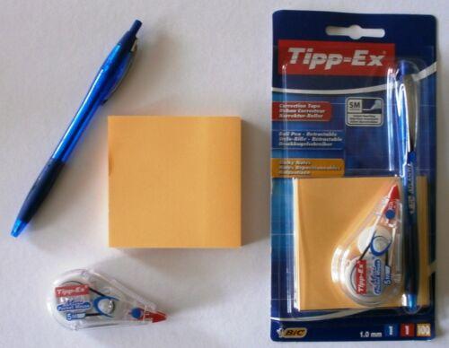 2x Tipp-ex mini Pocket Mouse 2x Ball Pen Atlantis 2x 100 Blatt Haftnotizen Maus