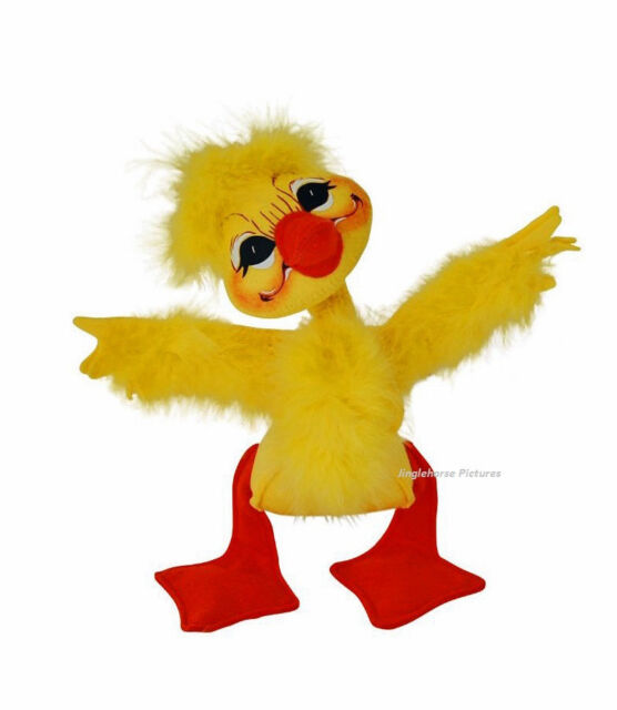 """EASTER Yellow Feathery 8"""" FLUFFY DUCK Springtime Decoration Annalee Doll holiday"""