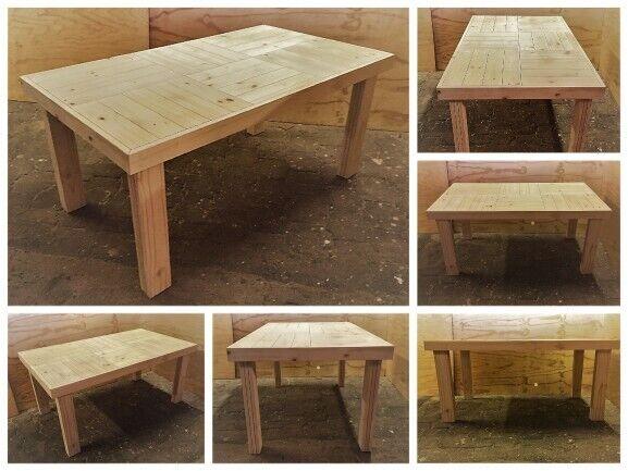 Patio table Farmhouse series 1600 - Raw