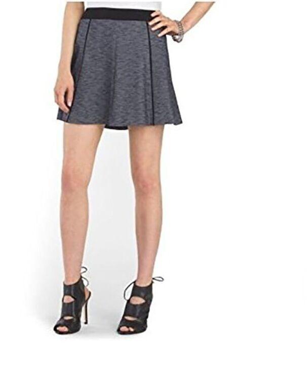 Theory Women's 12 - NWT 120 - Bao S Navy Heather Knit A-Line Mini Skirt