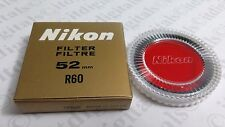 Genuine Nikon 52mm R60 RED Glass Lens Filter 52 mm OEM Japan Genuine 25A Red25