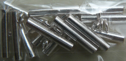 Silver tube beads pure Silver hypo-allergenic  bonded over copper quantity Packs