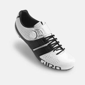 Giro Factor Techlace Road Cycling Shoe - White/Black