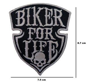 Motero-para-Vida-Hierro-para-Coser-Parche-Bordado-Moto-Chopper-Insignia