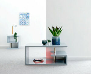 Details About Gfw Polar High Gloss Coffee Table With Led Lighting Grey