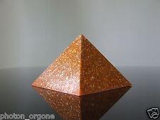Orgone corporeal Energy Kundalini Meditation Pyramid Blue Lace Agate, Sunstone