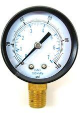 Co2 Low Pressure Gauge 0 100 Psi 14 Npt Rh Threads Beer Soda Keg System