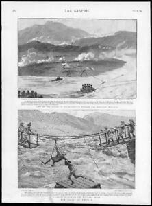 1895-Antique-Print-INDIA-Chitral-Pakistan-Panjkora-River-Captain-Peebles-203