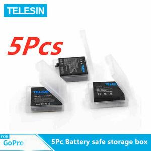 TELESIN-5Pc-Battery-safe-storage-box-for-Gopro-hero7-6-5-4-battery-Action-Camera