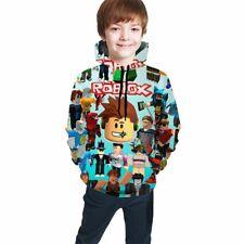 Fortnite Logo Boys Blue Hoodie Battle Royale Kids Hooded Sweatshirt