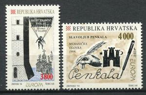 Croatie-Hrvatska-1994-Mi-274-275-Neuf-100-decouvertes-et-inventions