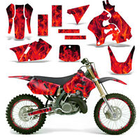 Decal Graphic Kit Suzuki Rm125 Rm Rm 125 Dirtbike Backgrounds Deco 96-98 Ice Red